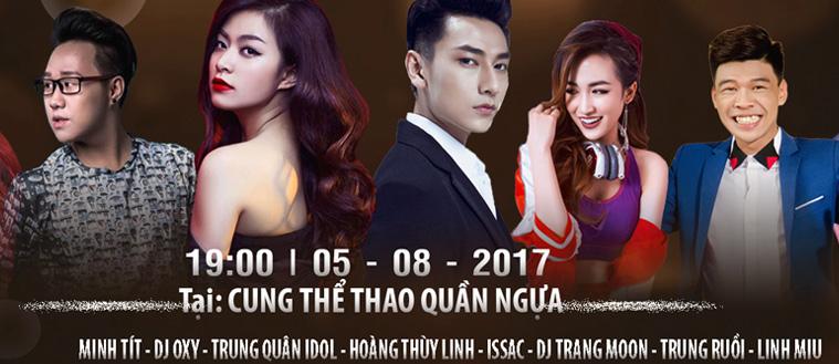 Vui tha ga, nhan qua lien tay tai dem nhac hoi Dang Quang Festival
