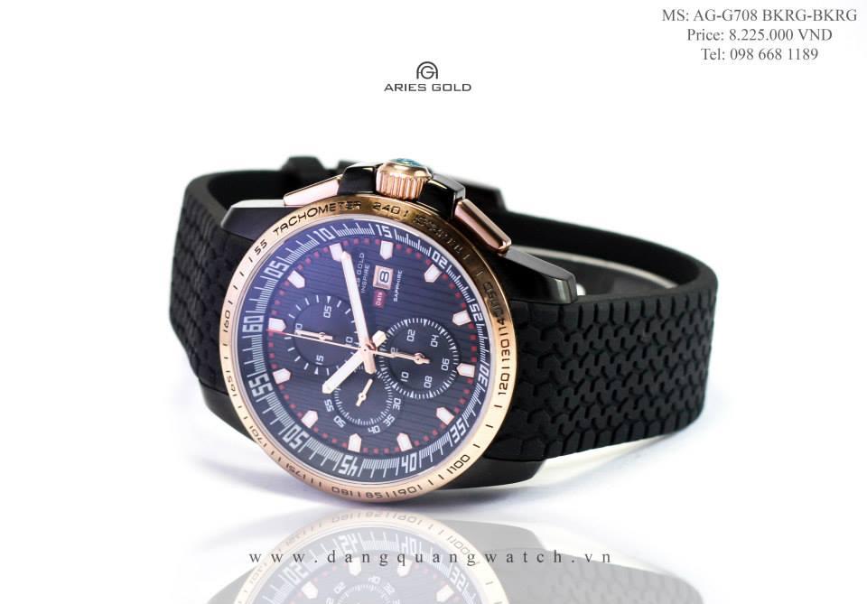 đồng hồ nam aries gold G708 BKRG-BKRG