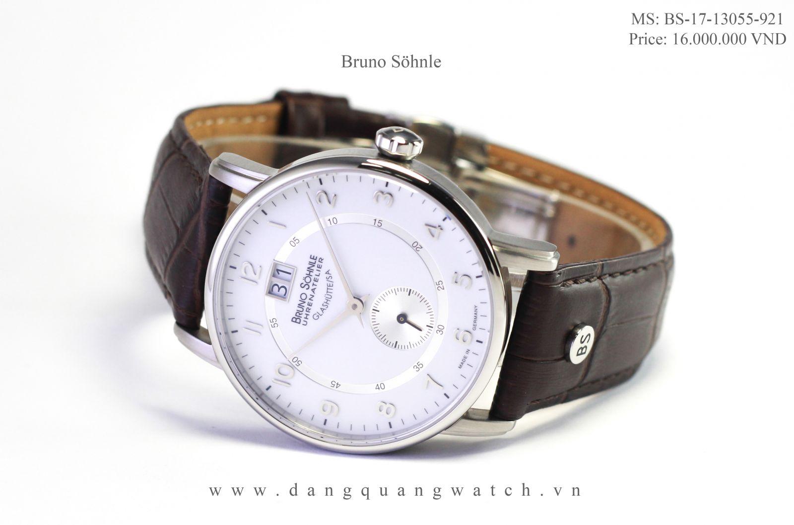 Đồng hồ Bruno Sohnle Glashutte đạt tiêu chuẩn cao nhất ở Châu Âu với chứng  nhận Glashutte/SA trên đồng hồ là chứng nhận cao nhất cho ngành đồng hồ.