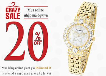 (Crazy sale Online) Giảm giá sốc 20% khi mua Diamond D online tại www.Dangquangwatch.vn